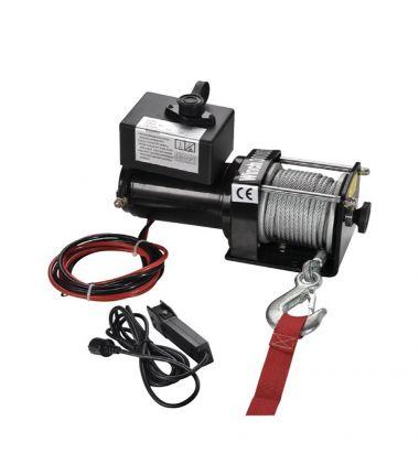 WINCHE ELECTRICO 12V MONO LINEA 1000W   1361 Kg. / 3000 lbs.